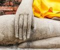 Part of the buddha statue close up Stock Images