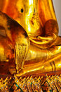 A part of buddha statue in Wat Pho thailand Stock Photography
