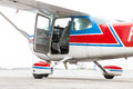 Part of cessna 172 plane Royalty Free Stock Photo