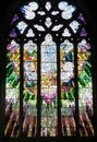 Part of a Church Window in Saint David's Cathedral Hobart, Tasmania Royalty Free Stock Photo