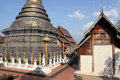 Part of the complex Buddhist temple in Chiang Mai, Thailand Royalty Free Stock Photo