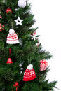 Part of decorated Christmas tree ornament Royalty Free Stock Photo
