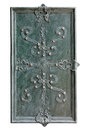 Part of decorated door with wrought iron Royalty Free Stock Images