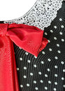 Part dress with a red bow retro Stock Photography