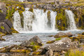 Part of Dynjandi waterfall - Iceland. Stock Images