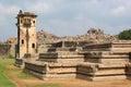 Part of Elephant stables UNESCO world heritage site in Hampi, Karnataka, India Royalty Free Stock Photo