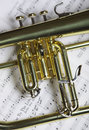 Part of flugelhorn Royalty Free Stock Photo