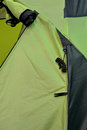 Part of green tent and detail shown as outdoor goods and colored pattern Royalty Free Stock Photography