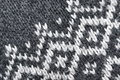 Part of Grey Knitted Sweater With White Jacquard Ornamnet Royalty Free Stock Photo