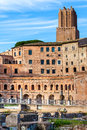 Part of imperial forums in rome italy Stock Images