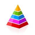 5 part layered pyramid Royalty Free Stock Photo