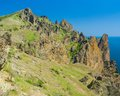 Part of majestic Karadag, volcanic mountain in Eastern Crimea Royalty Free Stock Images
