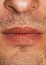 Part of man's face Royalty Free Stock Photo