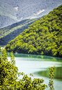 Mountainous azure lake Royalty Free Stock Photo