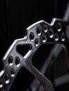 Part of mountain bike brake dis close up Royalty Free Stock Image