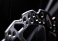 Part of mountain bike brake dis close up Stock Photo