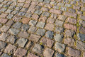 Part of an old cobblestone road Royalty Free Stock Photo
