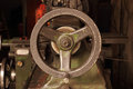 Part of the old lathe machine in industry Royalty Free Stock Photos