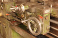 Part of the old lathe machine in industry Royalty Free Stock Photography