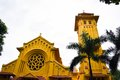 Part of the parish church at hai ly hai hau district ha noi vietnam there are many ancient churches and many large salt pan in Stock Photography