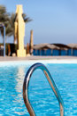 Part of the pool with blue water swimming Stock Photography