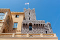 Part of prince s palace of monaco over blue sky background official residence the Stock Photos