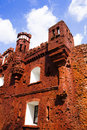 Part ruins brest fortress holmsky gate injured wars Royalty Free Stock Photography