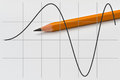 Part of a sine function Royalty Free Stock Photo