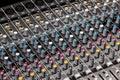 Part sound board mixer Royalty Free Stock Photo