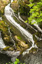 Part of the Swallow Falls, waterfalls in North Wales Royalty Free Stock Photo