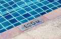Part of swimming pool for detail of deep Royalty Free Stock Photo