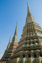 Part of temple in bangkok Stock Photography