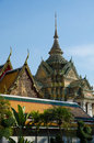Part of temple in bangkok Royalty Free Stock Photo