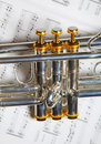 Part of trumpet Royalty Free Stock Photo