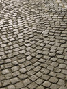 Part of urban square with cobblestone Royalty Free Stock Photo