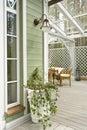 A part of veranda Royalty Free Stock Photo