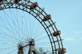 Part of Vienna giant wheel illuminated in winter christmas Royalty Free Stock Photo