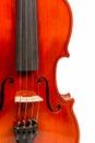 Part violin closeup Royalty Free Stock Photo