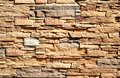Part of a wall built of bricks Stock Photo