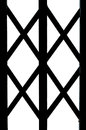 A part of wrought iron symmetry gate door fence window design isolated Royalty Free Stock Photos