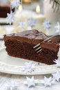 Parte de bolo de chocolate Imagem de Stock