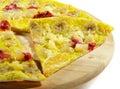 Parte della pizza della bacca e della frutta Fotografie Stock Libere da Diritti