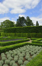 Parterre garden section of the showing surrounding hedges kew london Royalty Free Stock Photography