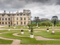 Parterre on west side of kirby hall a mansion just outside corby england built in the sixteenth century during the reign of Royalty Free Stock Image