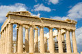 Parthenon on the Acropolis in Athens Royalty Free Stock Image