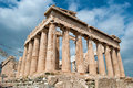 Parthenon in acropolis of athens capital city on greece Stock Images