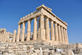 Parthenon in acropolis athens greece Royalty Free Stock Image