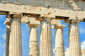 Parthenon on the acropolis in athens greece Stock Photography