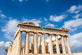 Parthenon on the acropolis in athens greece Royalty Free Stock Photography