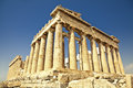 Parthenon on the acropolis in athens greece antique temple called Stock Photography